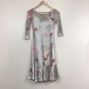 Komarov Cream Floral Lace Overlay Dress